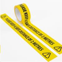 Social Distancing PVC Yellow Tape 48mmx33m SINGLES