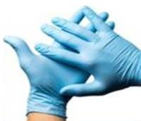 Powder-Free Blue Nitrile Large Gloves Pack of 100